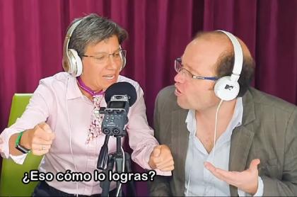 Claudia López y Daniel Samper Ospina