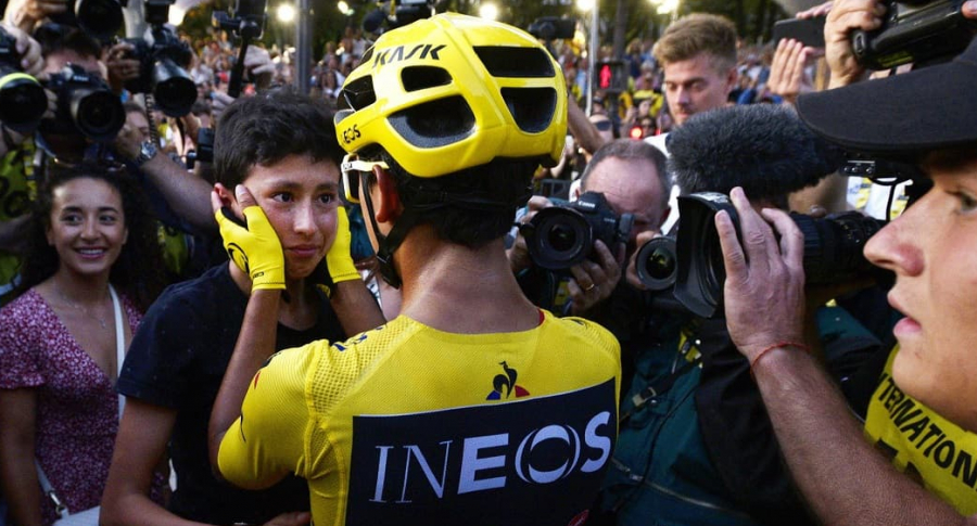 Egan Bernal y su hermano