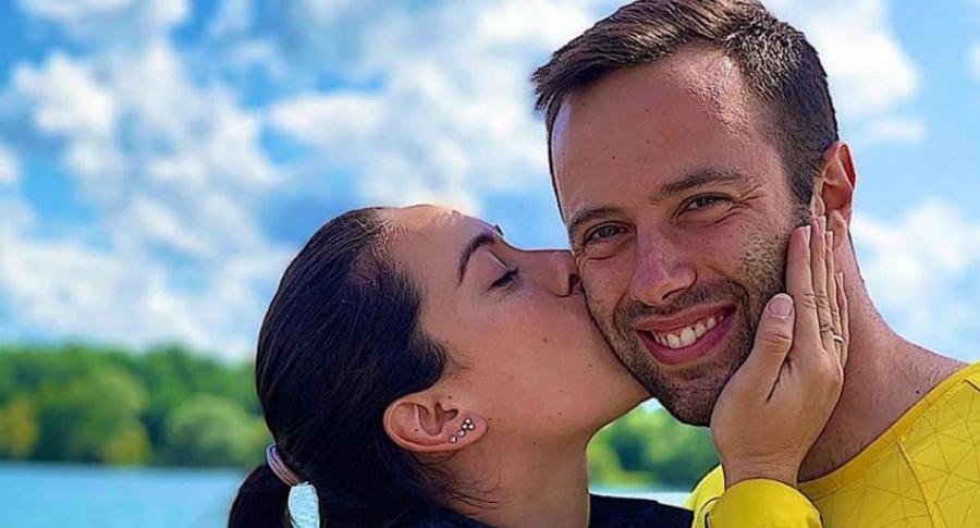 Mariana Pajón y Vincent Pelluard, bicicrosistas.