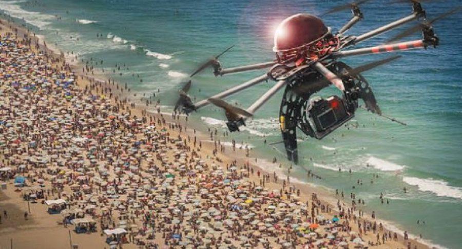 Drones en la playa