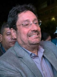 Pacho Santos y Eduardo Méndez, presidente de Santa Fe
