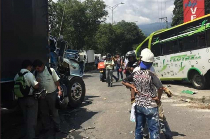 Accidente en Floridablanca