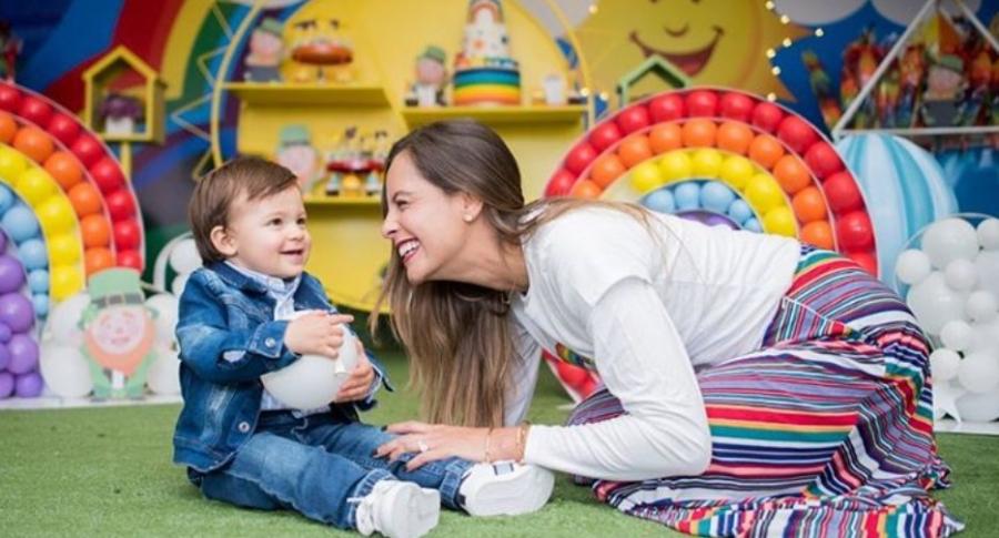 Laura Acuña y su hijo, Nicolás.