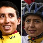 Egan Bernal y niño llorando por su título en el Tour de Francia