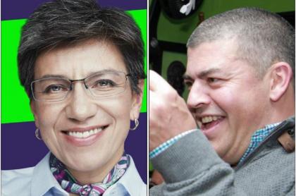 Claudia López y Gustavo Gómez