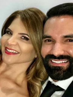 Diva Jessurum, presentadora, y Rafael Caparroso, modelo y actror.