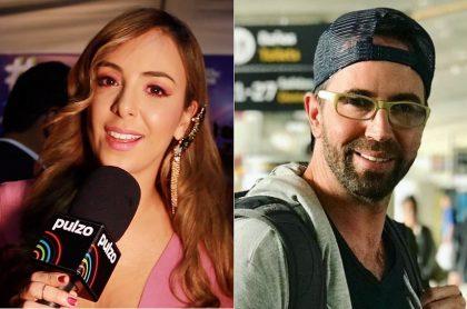 Sandra Mazuera, presentadora, y Lucas Arnau, cantante.