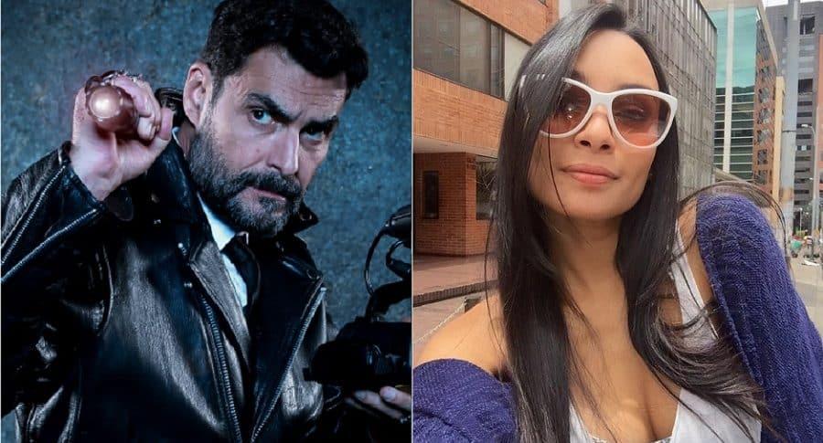 'Rafa' Taibo, presentador de 'Ellos están aquí', y Susana Rojas, actriz.