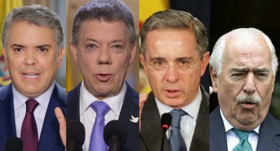 Iván Duque-Juan Manuel Santos-Álvaro Uribe-Andrés Pastrana