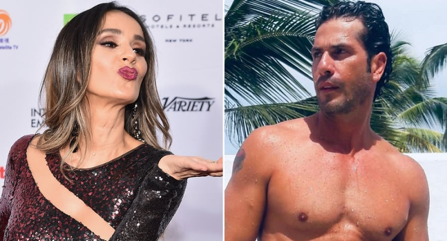 Catherine Siachoque y Gregorio Pernía, actores.
