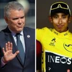 Iván Duque y Egan Bernal
