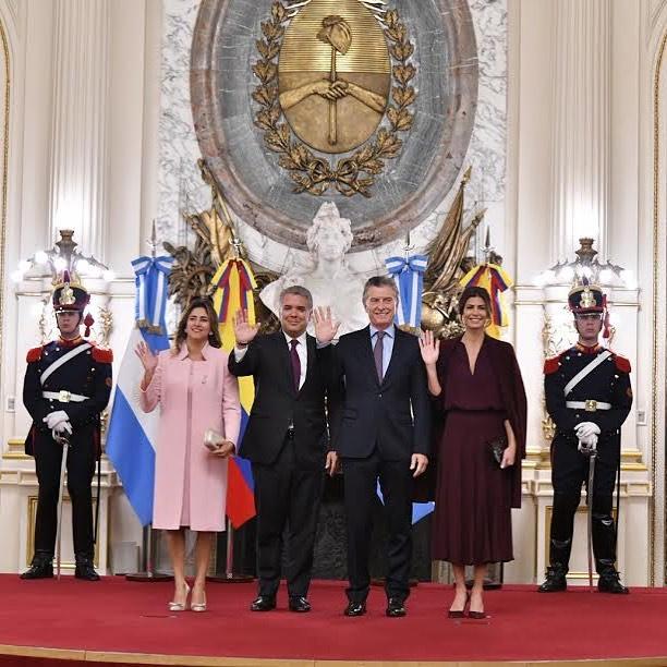 María Juliana en la Casa Rosada por el Mandatario de Argentina