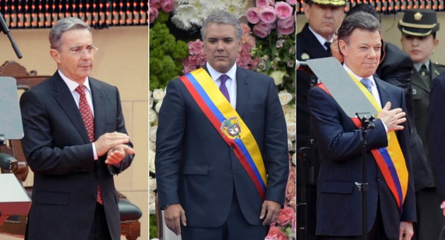 Santos y Álvaro Uribe