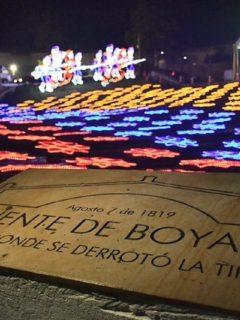 Placa conmemorativa Puente de Boyacá