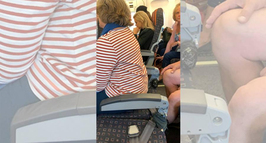 Asiento sin respaldo aerolínea easyJet