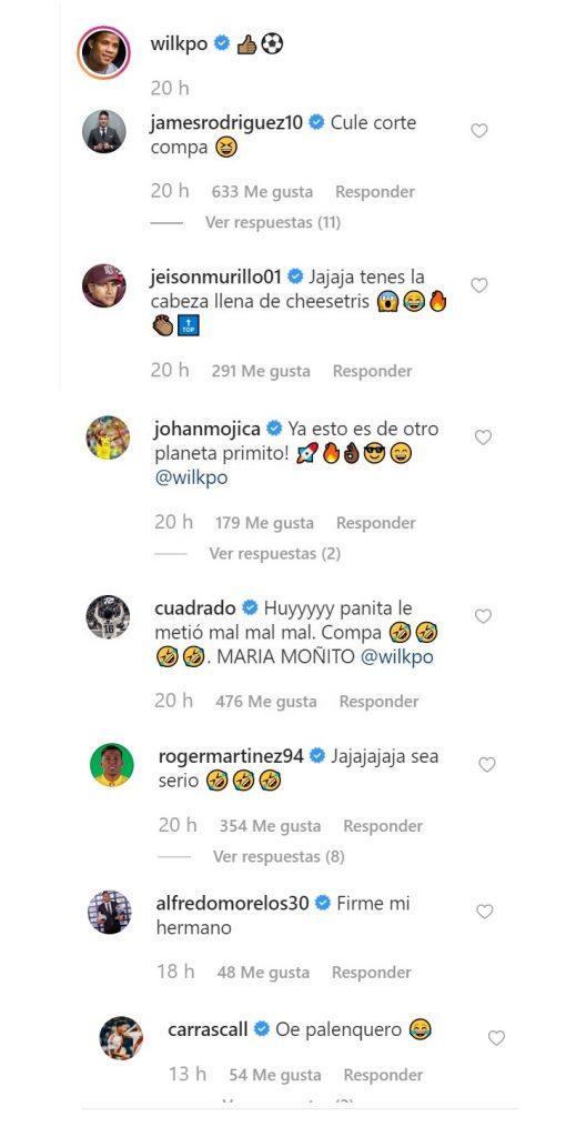 Comentarios de jugadores de la Selección Colombia