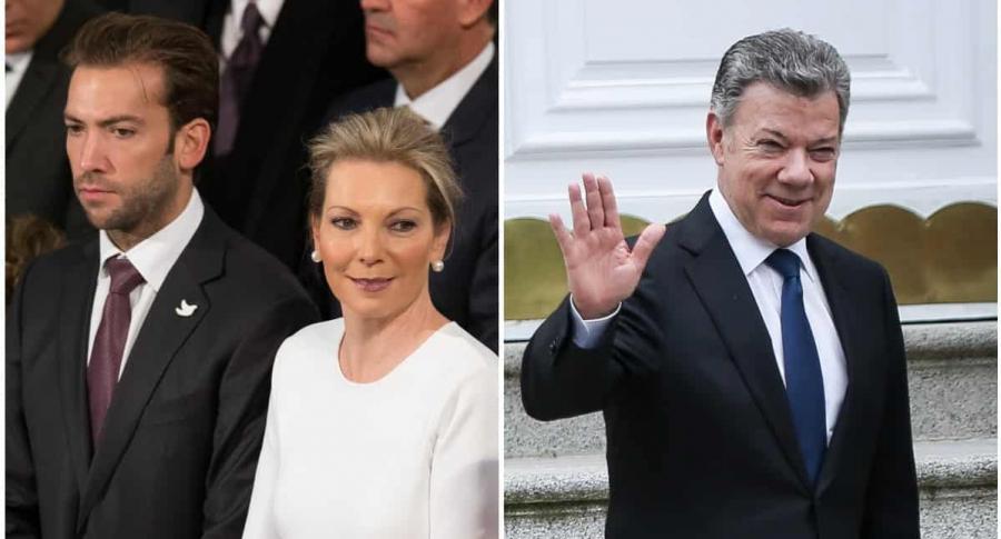Martín Santos y 'Tutina' de Santos / Juan Manuel Santos