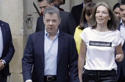 Juan Manuel Santos, expresidente de Colombia, y su esposa María Clemencia Rodríguez, 'Tutina'.