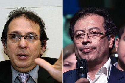 Jorge Rojas, exsecretario de Integración de Bogotá, y Gustavo Petro, senador y excalde de Bogotá.