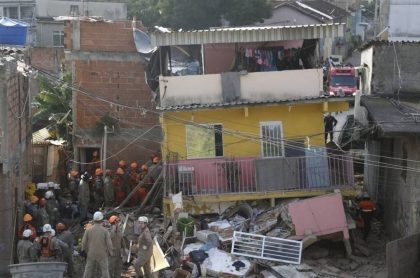 Casa que se derrumbó en Río