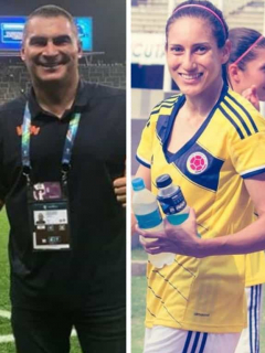 Faryd Mondragón, Melissa Ortíz y Marta Lucía Ramírez