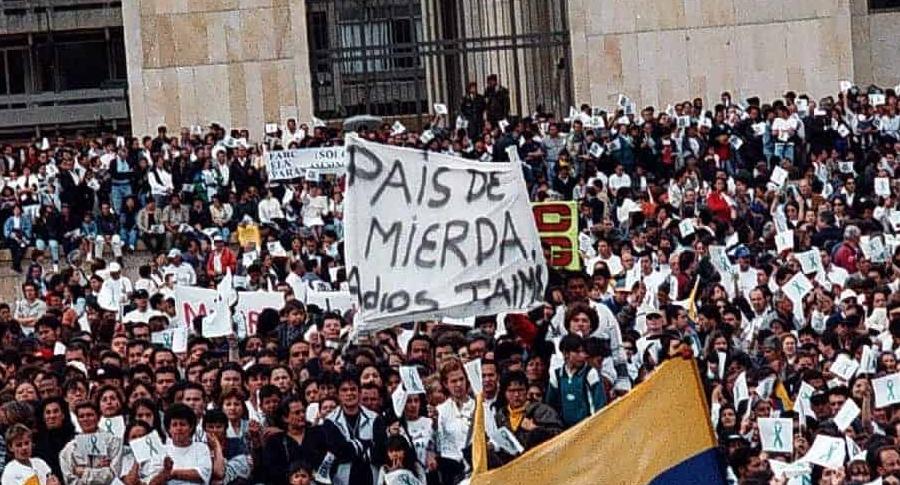 Despedida de Jaime Garzón en 1999
