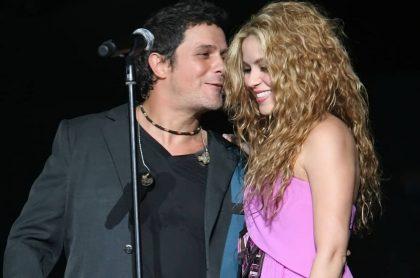 Alejandro Sanz y Shakira, cantantes.