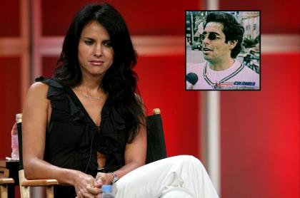 Paola Turbay, exreina y presentadora, y Jaime Garzón, humorista y periodista.