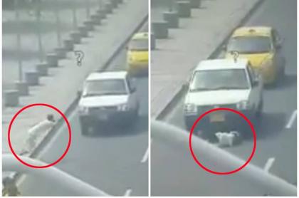 Hombre se le lanza a un carro.