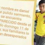 Daniel Felipe desapareció en el occidente de Bogotá