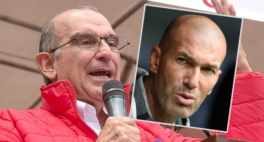 Humberto de la Calle y Zinedine Zidane