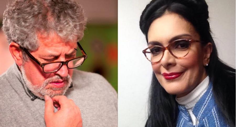 Alí Humar, director, y Marcela Posada, actriz.