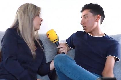 Vicky Dávila y Egan Bernal
