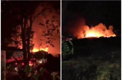 Incendio en Armenia.