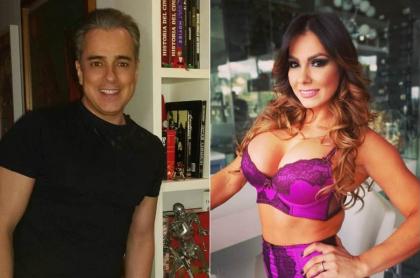 Jorge Enrique Abello, actor, y Esperanza Gómez, actriz porno.
