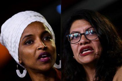 Las congresistas Rashida Tlaib e Ilhan Omar