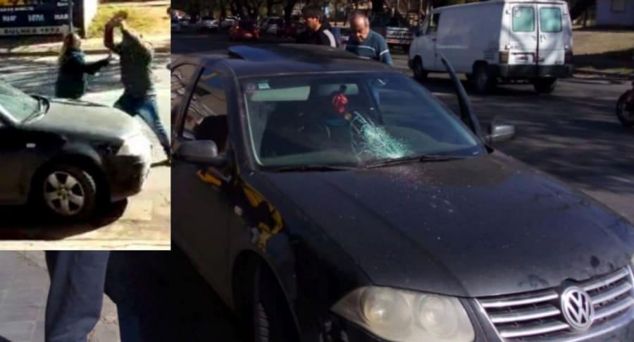 Vendedor ataca a conductora.