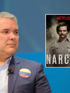 Iván Duque y afiche 'Narcos'