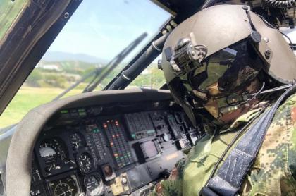 Soldado en Helicóptero