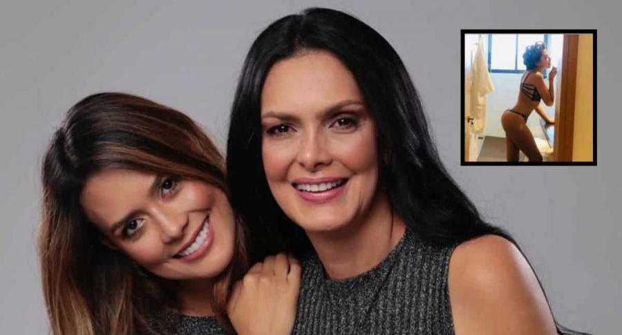 Marcela Posada y su hija