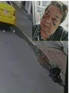 [Video] Rencoroso taxista hizo caer a una abuelita, porque ella no se dejó tumbar