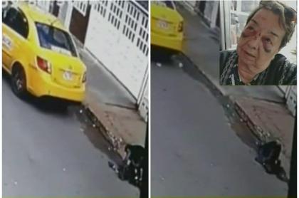 Taxista tumba a abuelita.