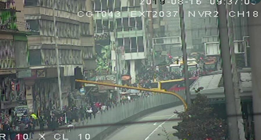 Manifestaciones en el centro