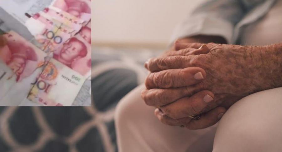 Abuela pierde casi la mitad de sus ahorros.