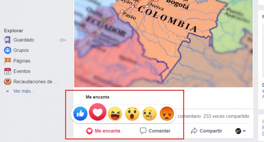 'Me encanta' Facebook
