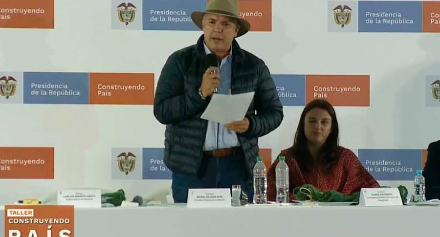 Iván Duque en taller 'Construyendo País'