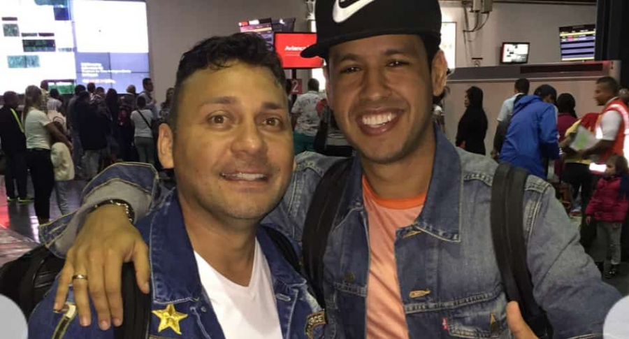 Jean Carlos Centeno y Martín Elías Díaz, cantantes.