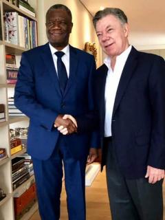"""Nobel de Paz le agradeció a Santos la """"cálida bienvenida"""" (que no le dio el Gobierno)"""