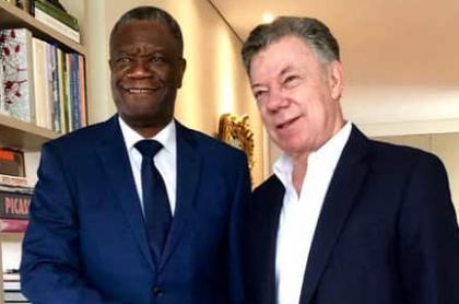 Denis Mukwege y Juan Manuel Santos
