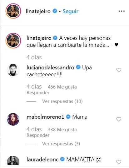 Comentarios post Lina Tejeiro